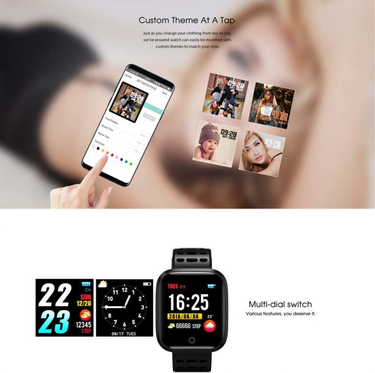 WISHDOIT Smartwatch Bluetooth IP68 Android IOS 5