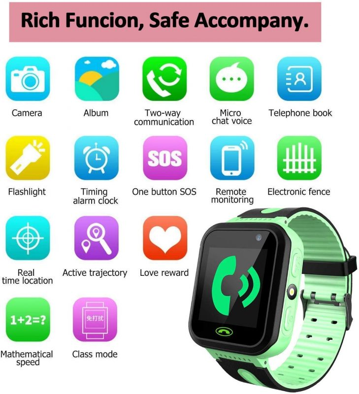 Smartwatch com GPS Flash Night Para Crianças – Safe Keeper Verde2