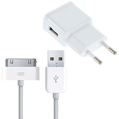 24668 cargador de red salida usb 1000 mah cable datos iphone