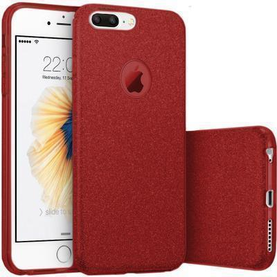 29431 funda silicona gel iphone 7 plus brillo rojo