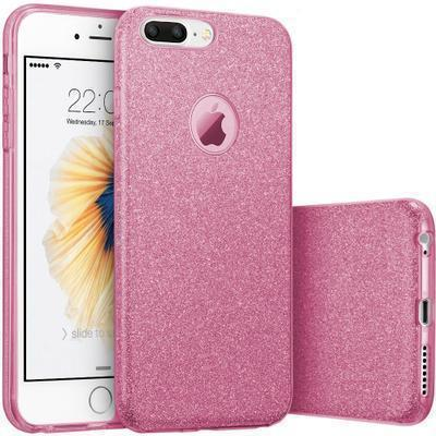 29444 funda silicona gel iphone 8 plus brillo rosa