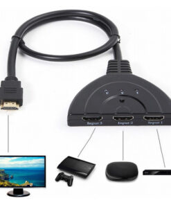 Cabo Switch HDMI 1x3 Multiplicador Repartidor 3 Portas 4