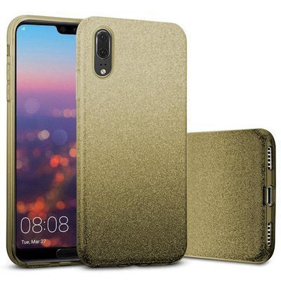 None funda silicona gel huawei p20 brillo dorado