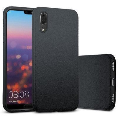 None funda silicona gel huawei p20 brillo negro