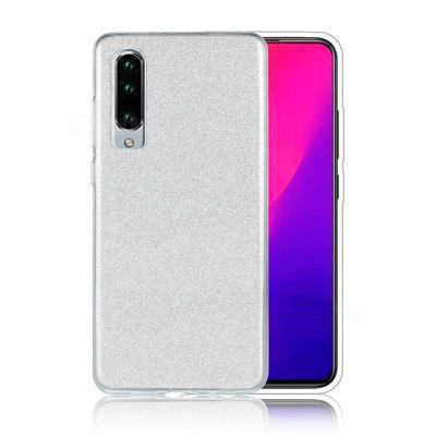 None funda silicona gel huawei p30 brillo plata