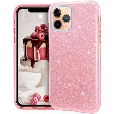 None funda silicona gel iphone 11 pro max brillo rosa