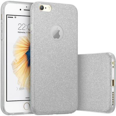 None funda silicona gel iphone 7 brillo plata