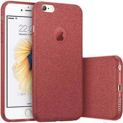 None funda silicona gel iphone 8 brillo rojo