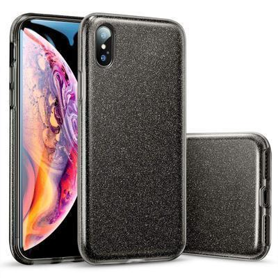 None funda silicona gel iphone xs max brillo negro