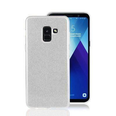 None funda silicona gel samsung galaxy a6 brillo plata
