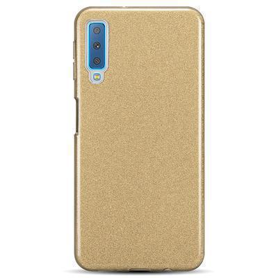 None funda silicona gel samsung galaxy a7 2018 brillo dorado