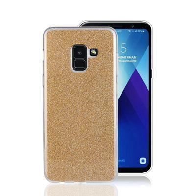 None funda silicona gel samsung galaxy a8 brillo dorado