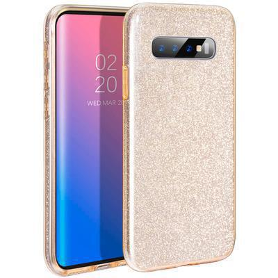 None funda silicona gel samsung galaxy s10 brillo dorado