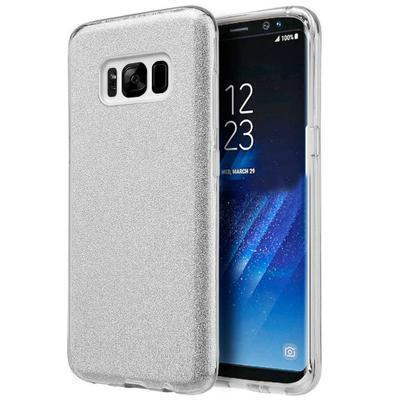 None funda silicona gel samsung galaxy s8 g955 brillo plata