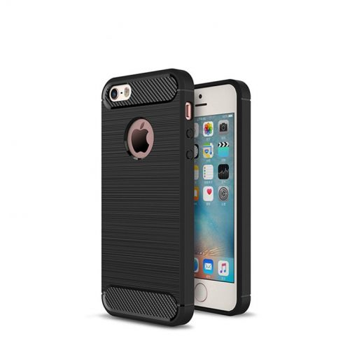 Capa Carbon Gel TPU Carbono Preto para Apple iPhone 5 5s SE 1