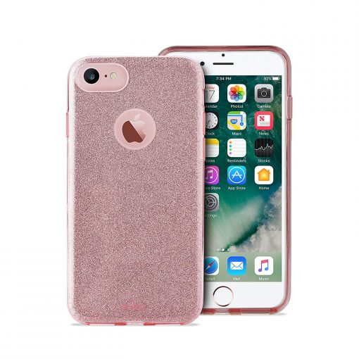 PURO Capa iPhone 6 6s 7 8 Shine Rosa 1